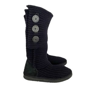 👗Ugg Cardy Knitted Boot Black Size 7